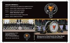 Plaquette de presentation du 92nd North Fox Pipe Band